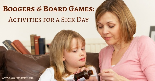 A cool list of non-screen-time activities for kids on a sick day