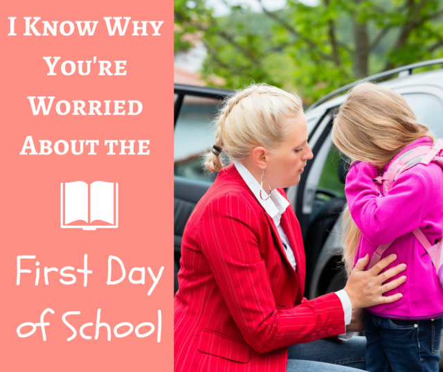 The first day of school can be a scary one for your kid, but even scarier for you.